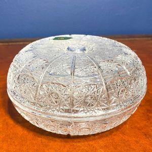 Vintage Slovakia lead crystal elegant candy dish